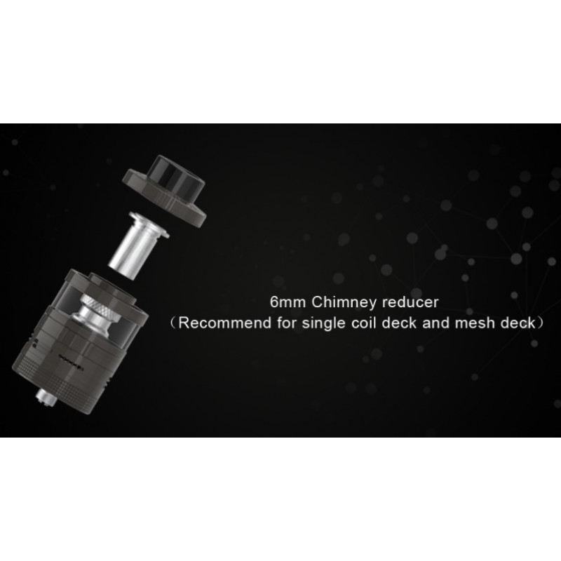 Steam Crave Aromamizer Plus V2 RDTA Advanced Kit Ansicht Kamin-Reducer