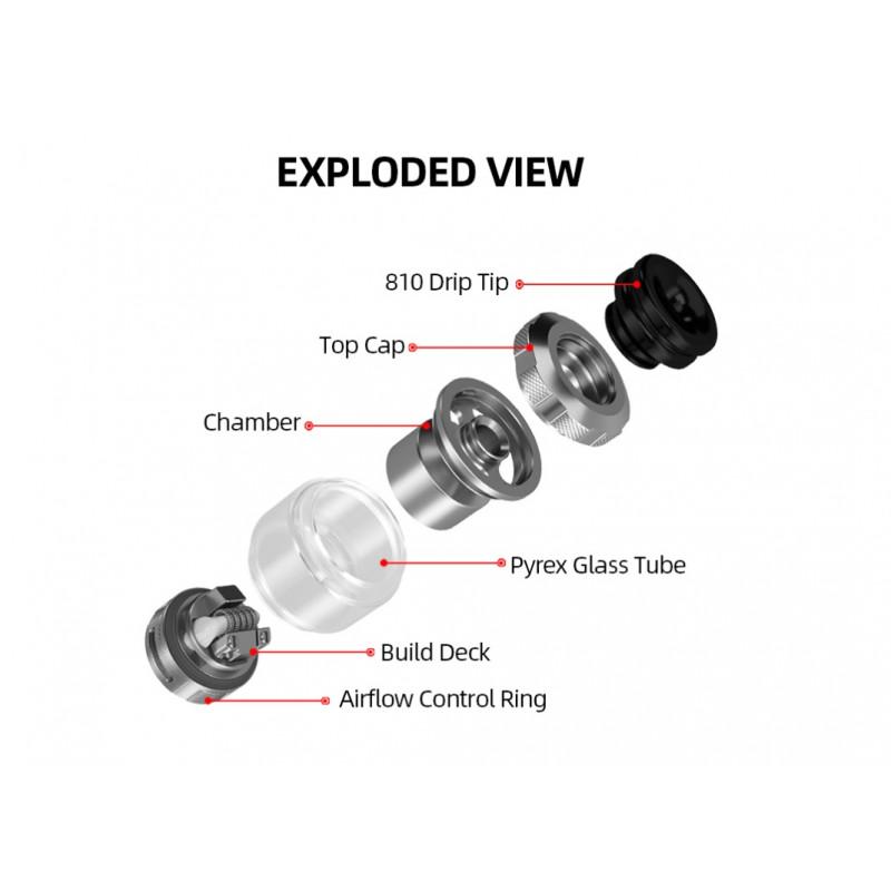 Hellvape Destiny RTA Ansicht Einzelteile