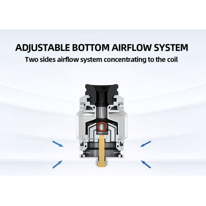 Hellvape Destiny RTA Ansicht Airflow