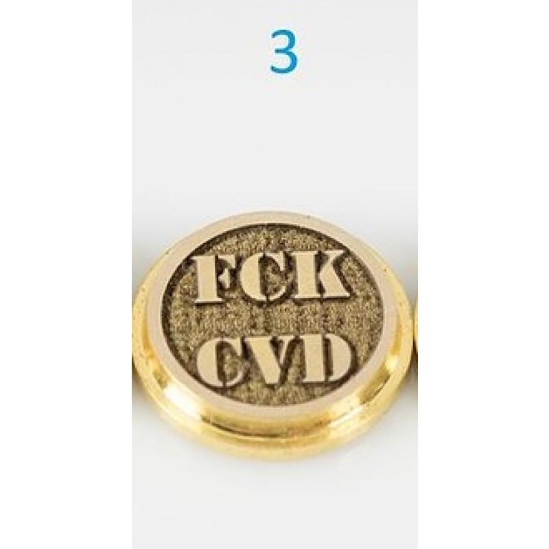 Koncio Mods Billet Box Brass 3D Button Nr.3