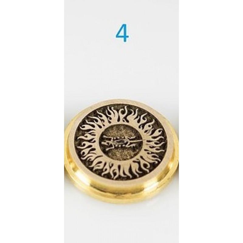 Koncio Mods Billet Box Brass 3D Button Nr.4