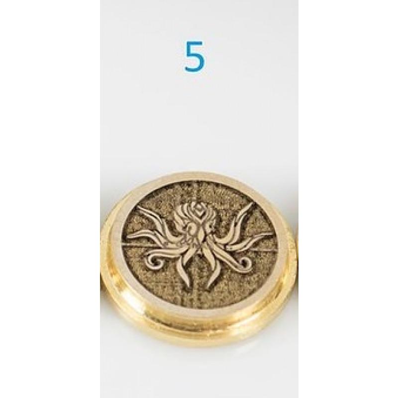 Koncio Mods Billet Box Brass 3D Button Nr.5