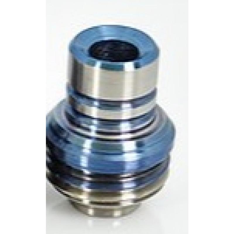 Koncio Mods Billet Box Titanium Drip Tip V2 Ansicht Blau-Silber