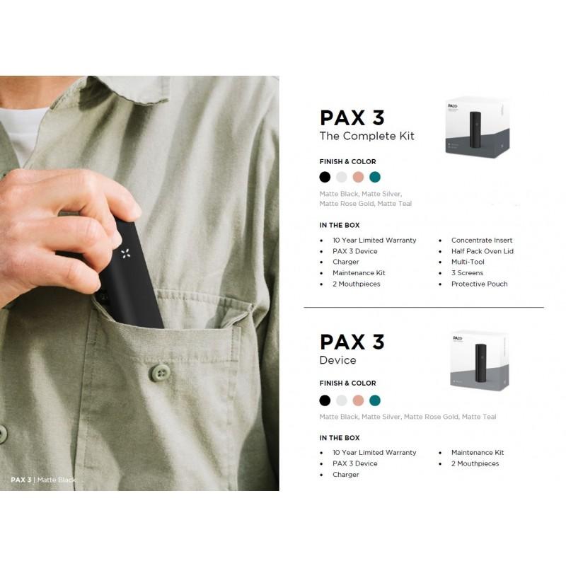 PAX 3 Vaporizer Complete Kit vs Basic kit