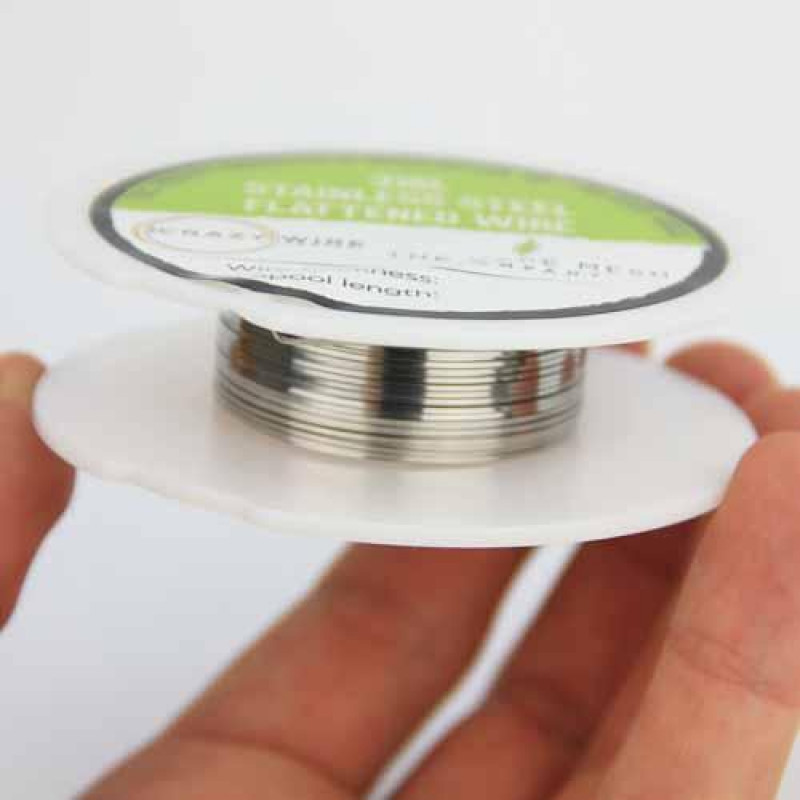 Crazy Wire Flat Wire SS316L rolle