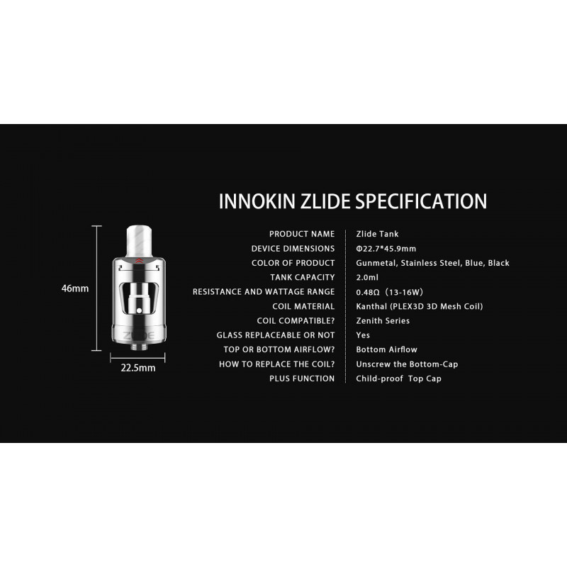 Innokin-Zlide-MTL-Tank Infos