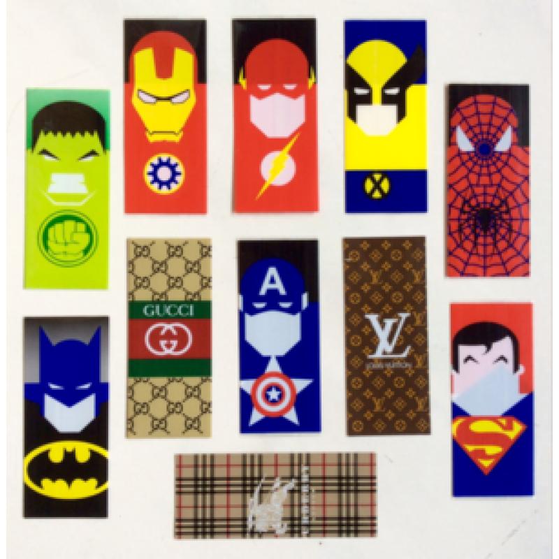 Akkuschrumpfschläuche Super Heros, Gucci und Louis Vuitton
