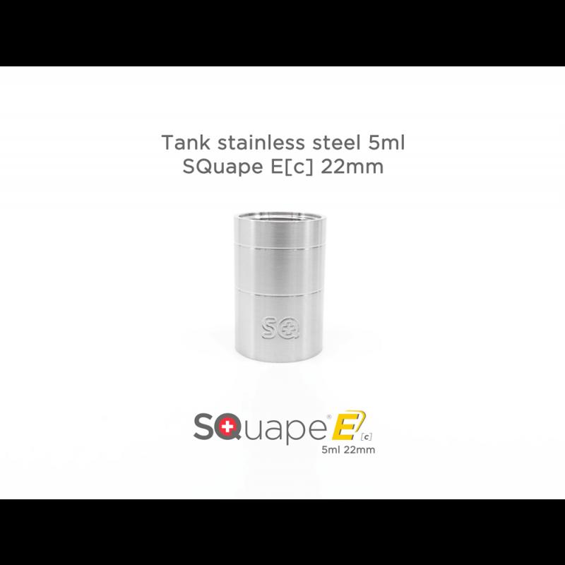 Stattqualm Tank Edelstahl Squape E[c] 22mm 5ml Ansicht