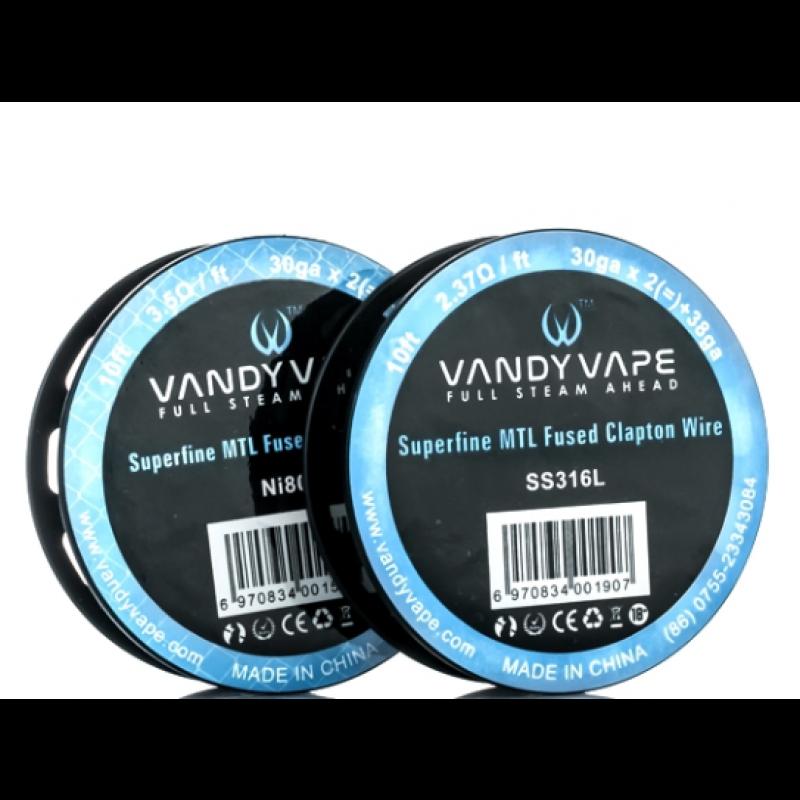 Vandy Vape Superfine MTL Fused Clapton Drähte