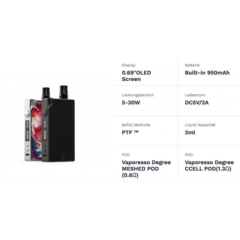 Vaporesso Degree Pod Kit details