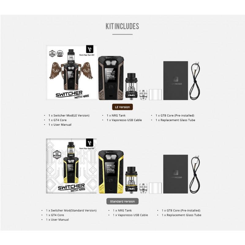 Vaporesso Switcher – NRG Kit box