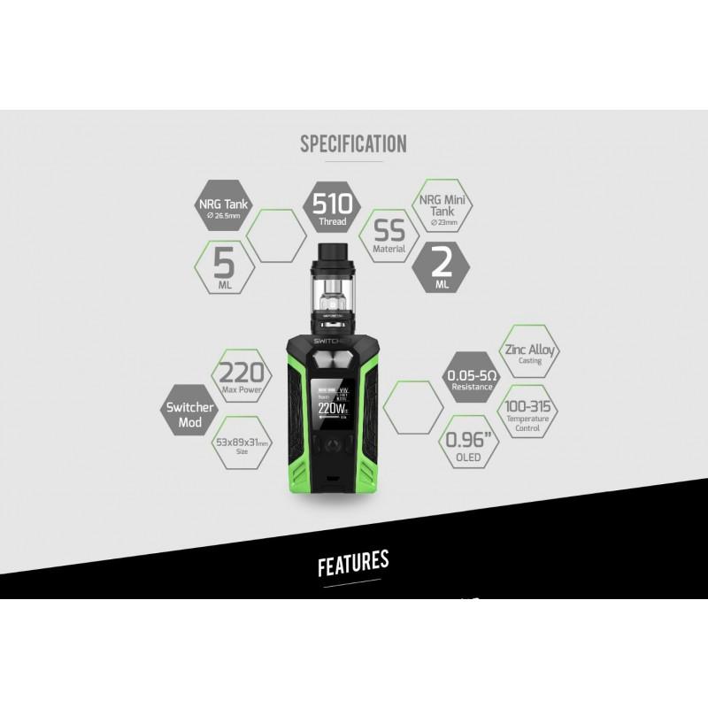 Vaporesso Switcher – NRG Kit leistung