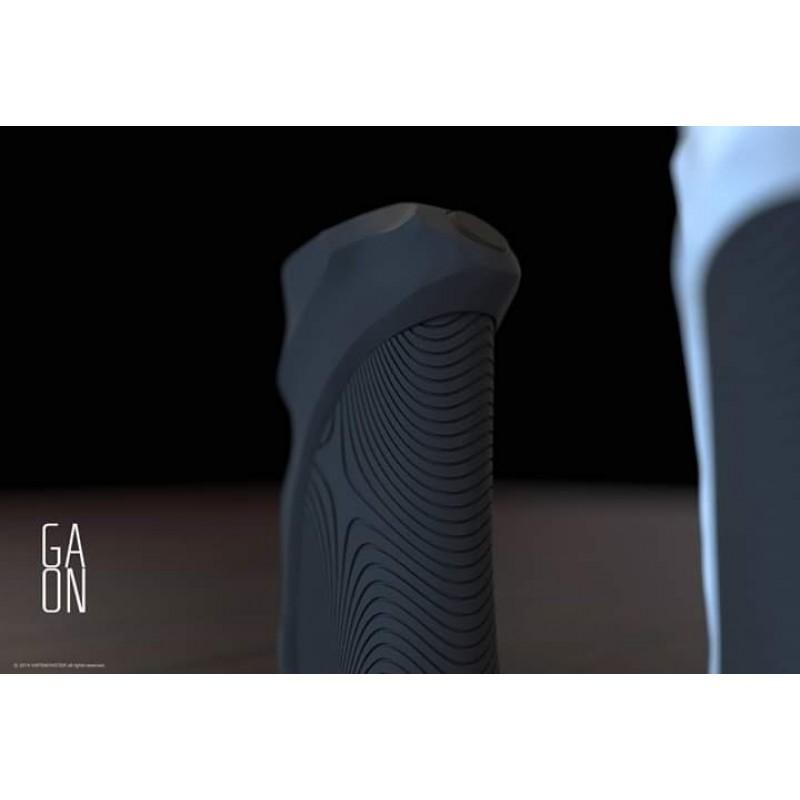 Vapemonster Gaon BF Mod Ansicht Rückseite mit Blick auf Feuertaster