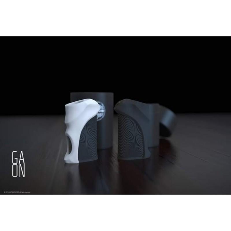 Vapemonster Gaon BF Mod Schwarz-Weiss und Schwarz seitliche Ansicht